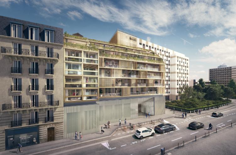 Facade-Promgramme-immobilier-neuf-appartement-Duplex-Ateliers-Vaugirards-Paris-19-PTZ