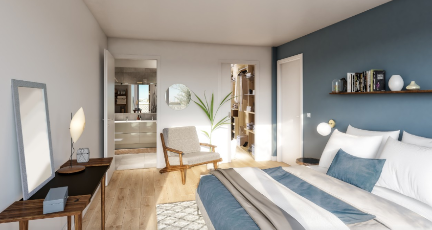 Promgramme-immobilier-neuf-appartement-Duplex-Ateliers-Vaugirards-Paris-19-PTZ-Chambre