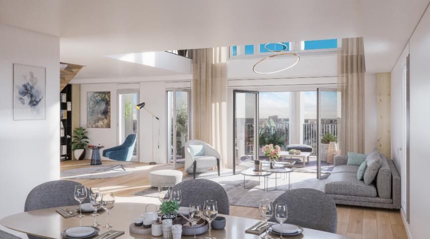 Promgramme-immobilier-neuf-appartement-Duplex-le-Berlier-Paris-13-PTZ-salon